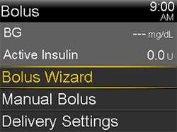 Select Bolus Wizard