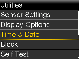 Updating Time and Date - Select Time & Date