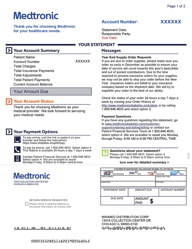 Medtronic sample statement