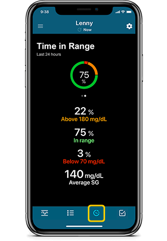 Time in Range screen
