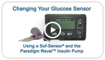 Using the Sof-sensor & Revel Insulin pump video